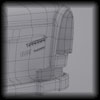 Trabant wireframe and clay render